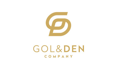 Initial G and D luxury logo design inspiration