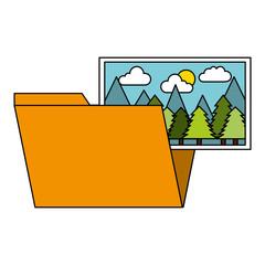 folder file picture gallery album vector illustration