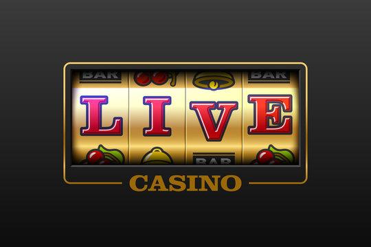 Live Casino games slot machine banner