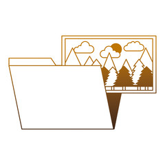 folder file picture gallery album vector illustration degrade color
