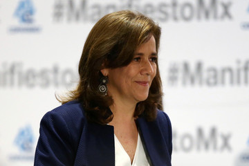Independent presidential candidate Margarita Zavala is pictured during an event organised by COPARMEX, in Mexico City