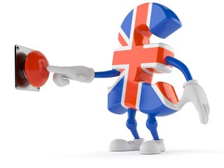 Pound currency character pushing button