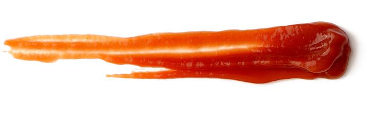 Fototapeta Tasty ketchup tomato sauce isolated over white background obraz
