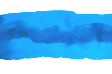 blue multilayer strip of watercolor. ready design for postcards, banners, web.