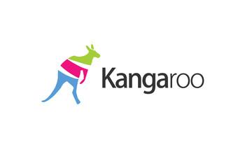 kangaroo colorful logo vector