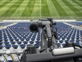 tv camera in the football