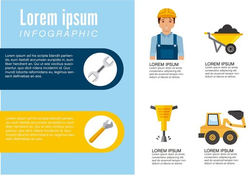 Illustrated Construction Infographic