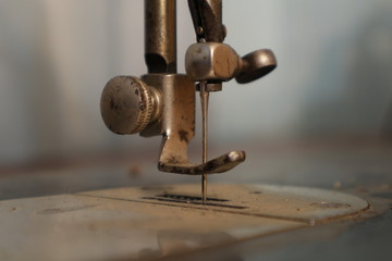 The old sewing machine. Vintage