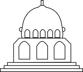 Ramadan illustration for the mosque, icon