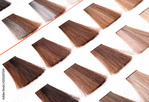 Palette Of Hair Color Dye Samples Stock Photo And Royalty Free