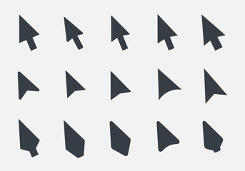 mouse cursor icons set, arrow poiner sign