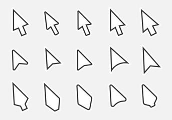 arrow cursor icon set, mouse poiner sign