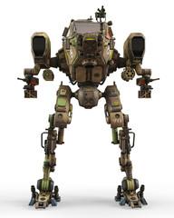 super war machine on green camouflage