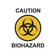 Vector illustrationю Biohazard symbol sign of biological threat alert. Biohazard sign isolated on white