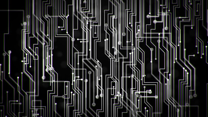 Digital Circuit Loop -  Dark Colors