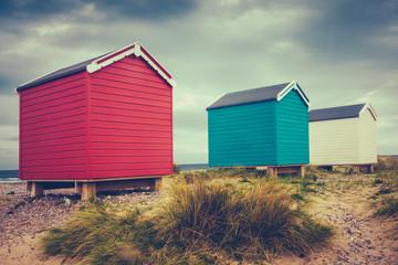 British Retro Beach Huts