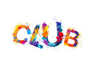 Word CLUB of splash paint letters