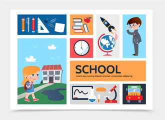Flat Education Infographic Template
