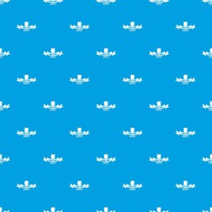 Gmo free label pattern vector seamless blue repeat for any use