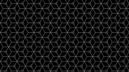 Abstract Geometric Minimal Pattern With Black Background