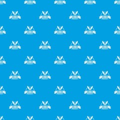 Gmo free bakery pattern vector seamless blue repeat for any use