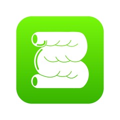 Large intestine icon green vector isolated on white background