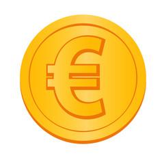 ユーロ通貨記号のコインのイラスト