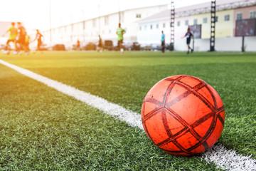Red soccer ball