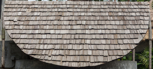 roof made from wood board