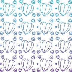 hearts love pattern background vector illustration design