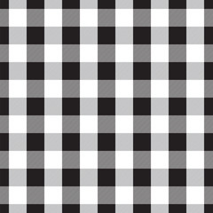 Seamless Black Gingham check pattern background