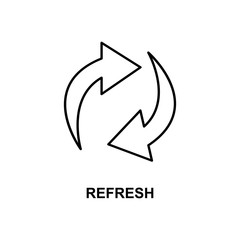 refresh sigh icon. Element of simple web icon with name for mobile concept and web apps. Thin line refresh sigh icon can be used for web and mobile