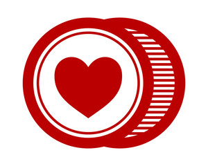 red love heart icon image vector logo symbol