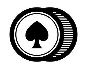 black spade circle icon image vector logo symbol