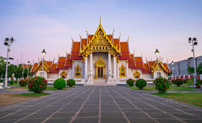 Wat Benchamabophit the marble temple in Bangkok, Thailand
