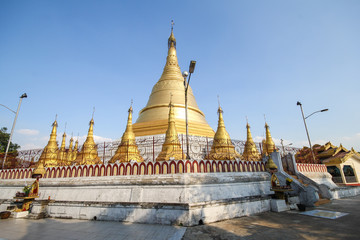 Beautiful temple in Yangon, Myanmar.
