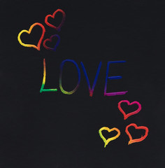 Love colorful message