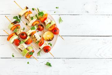 Aluminium Prints Grill / Barbecue Vegetarian skewers