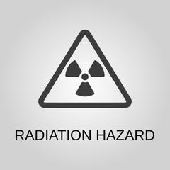 Radiation hazard icon. Radiation hazard symbol. Flat design. Stock - Vector illustration