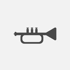 Trumpet vector icon musical instrument