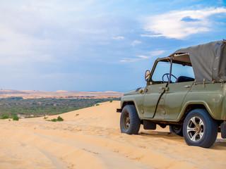 Off Road Car on Desert