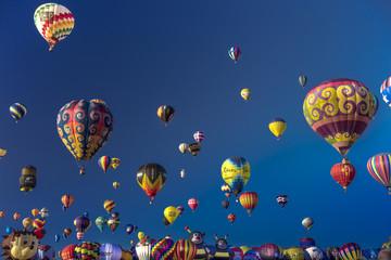 Colorful Hot Air Balloons at the Albuquerque Balloon Fiesta, Albuquerque, New Mexico