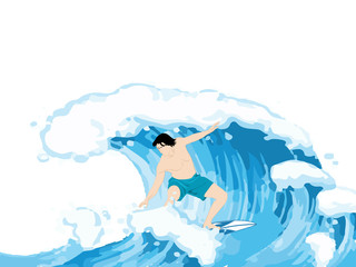 beautiful abstract or poster for Sea Surfing Men.