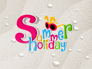 nice and beautiful abstract or poster for Summer Holiday with nice and creative design illustration.