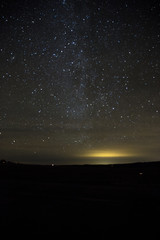 Star filled sky over San Juan Mountains shot in night of  SW Colorado