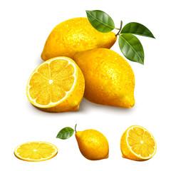 Yellow lemon fruit