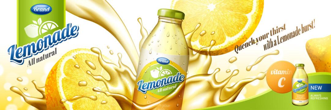 Natural lemonade juice