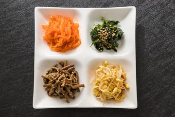 ナムルセット namul Korean dishes