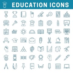 School and education editable icons