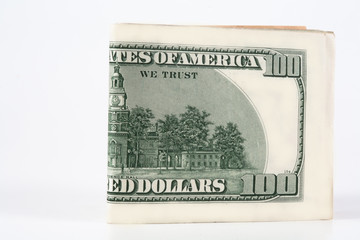 Dollar, model on dollar banknote, concept and idea of time value and money, realestate business and finance concept